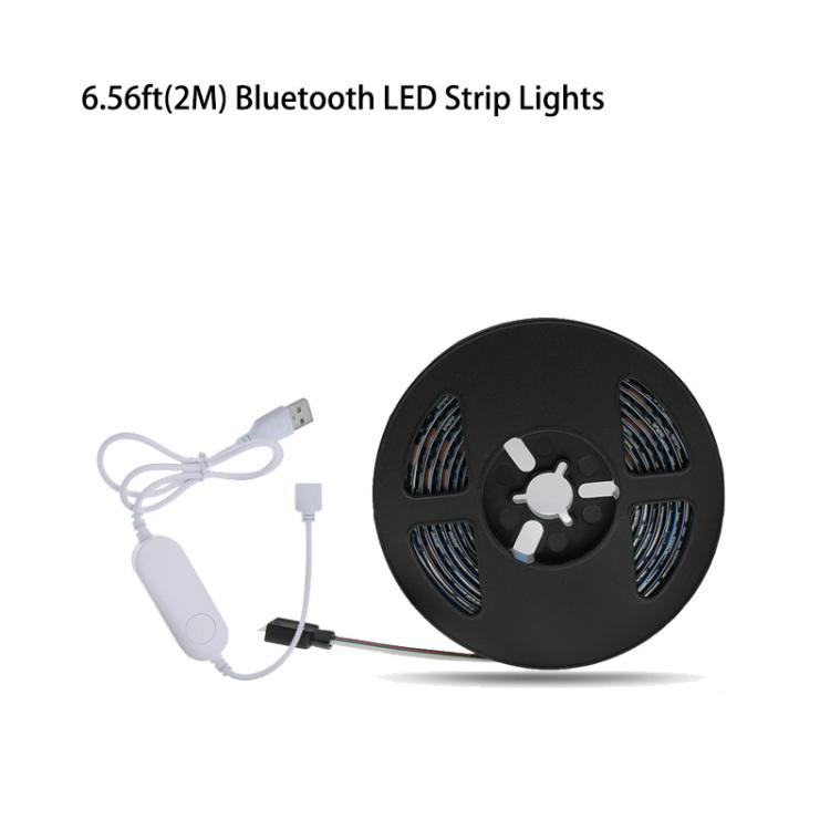 6.56ft(2M) 5V TV USB Bluetooth RGB Music LED Strip Lights