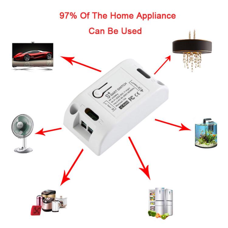 KR2201W-4 with Wi-Fi+RF 433 Smart Switch for Tuya&Smart Life APP