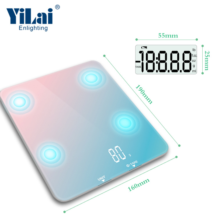Yilai Bluetooth Nutrition Kitchen Food Scale-Rainbow color