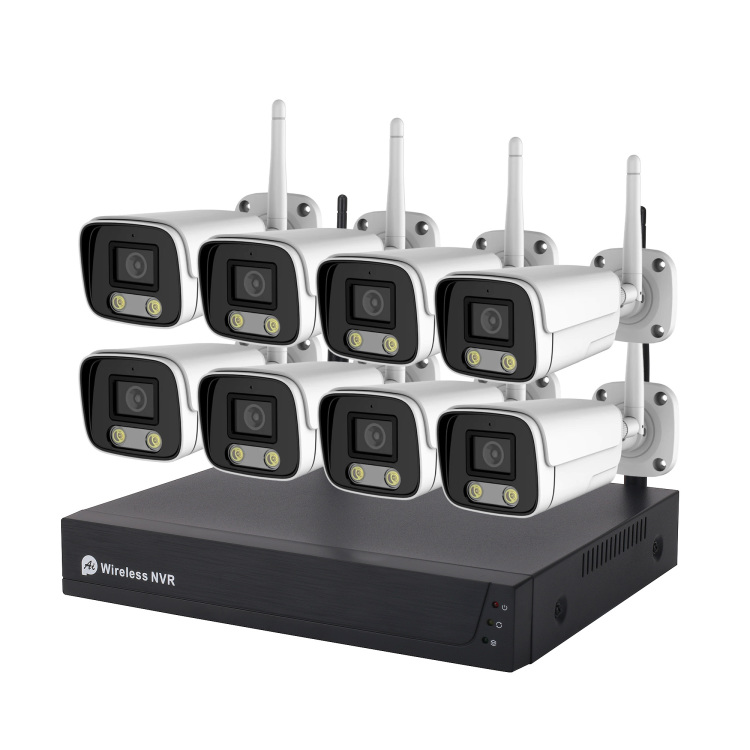 8CH wireless outdoor 2MP wifi CCTV security camera NVR kit
