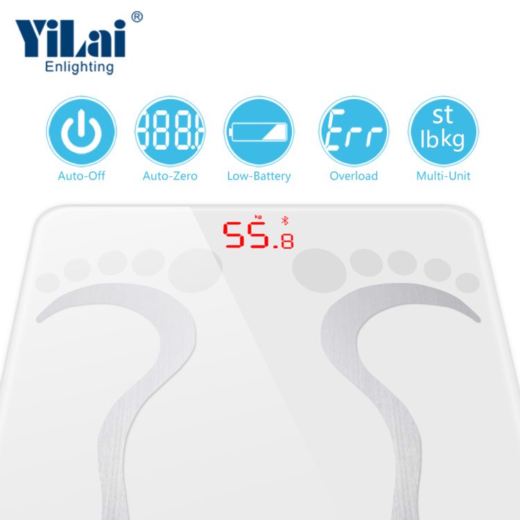 BSCI Factory Support Smart Blutooth Body Fat Scale With Multifunction Over 13 Body Values
