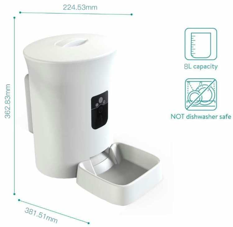 Smart Pet Feeder with Built-in Camera