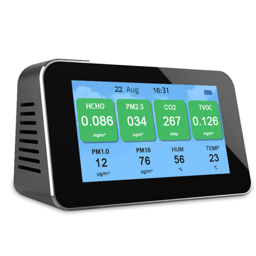 CO2 detector PM2.5/TVOC/HCHO monitor