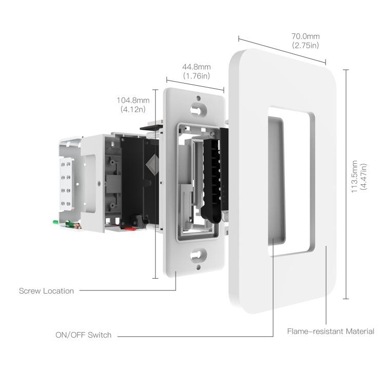 wifi Single Pole smart push button Switch