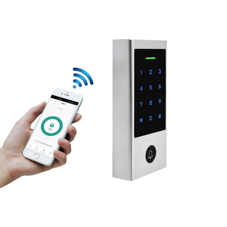 Outdoor Bluetooth 125KHz Proximity Card Reader Keypad Access Control