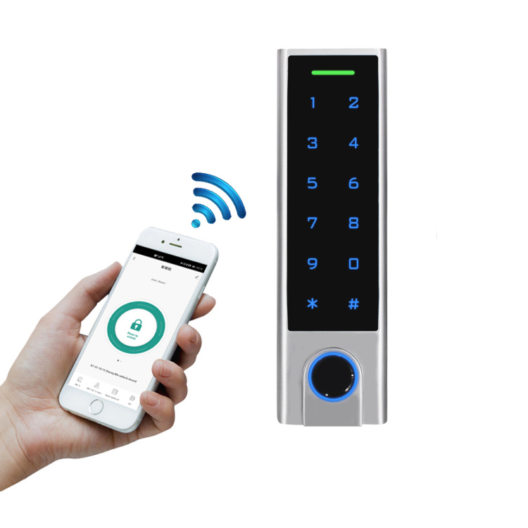 Bluetooth Touch Keypad Access Controller with Fingerprint