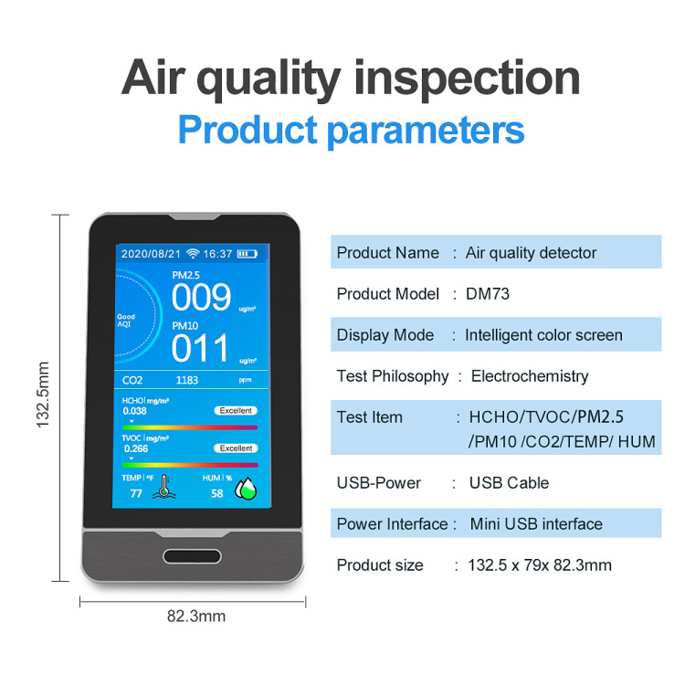 wifi connect CO2 detector PM2.5  tester