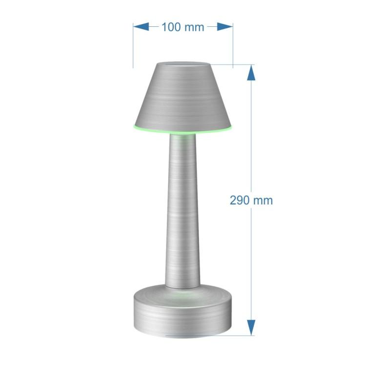 Phonecontrol Rechargeable Table Lamp, RGBW Portable Night Light for Living Rooms, Bedrooms and Camping