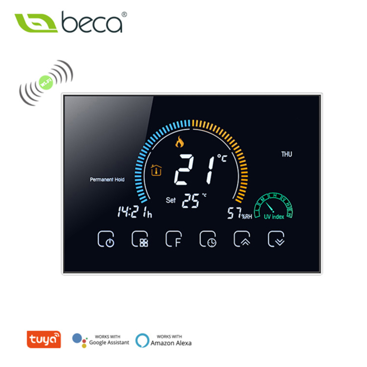 LCD touch screen room digital heating controller gas boiler wall-hung boiler WiFi thermostat