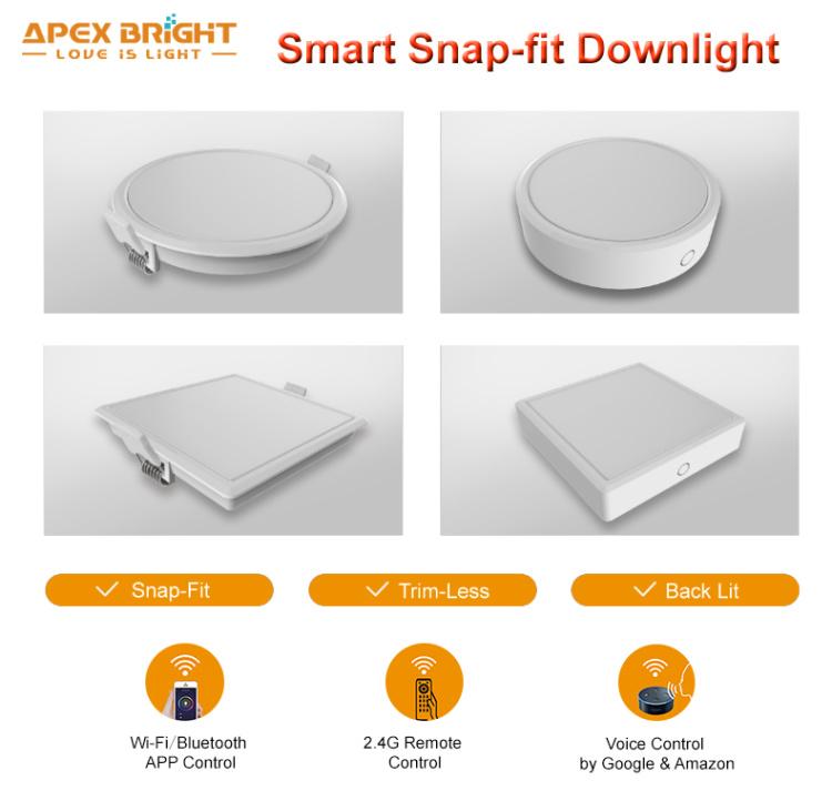 Smart LED Snap-Fit Downlight 6w 12w 18w