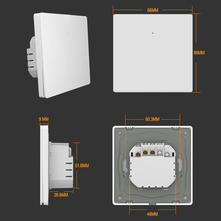 1 Gang Smart Life Push Button Smart Switch Wi-Fi