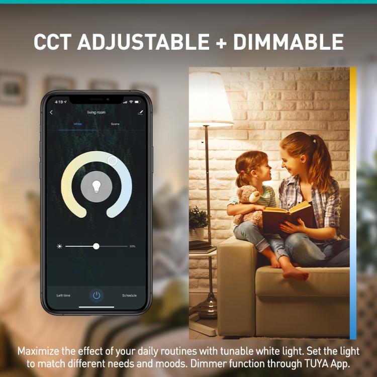 Filament Bulb A60 CCT WiFi+Bluetooth