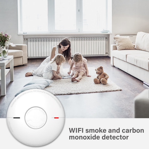 Wi-Fi Smoke And Carbon Monoxide Detector With UL Certification