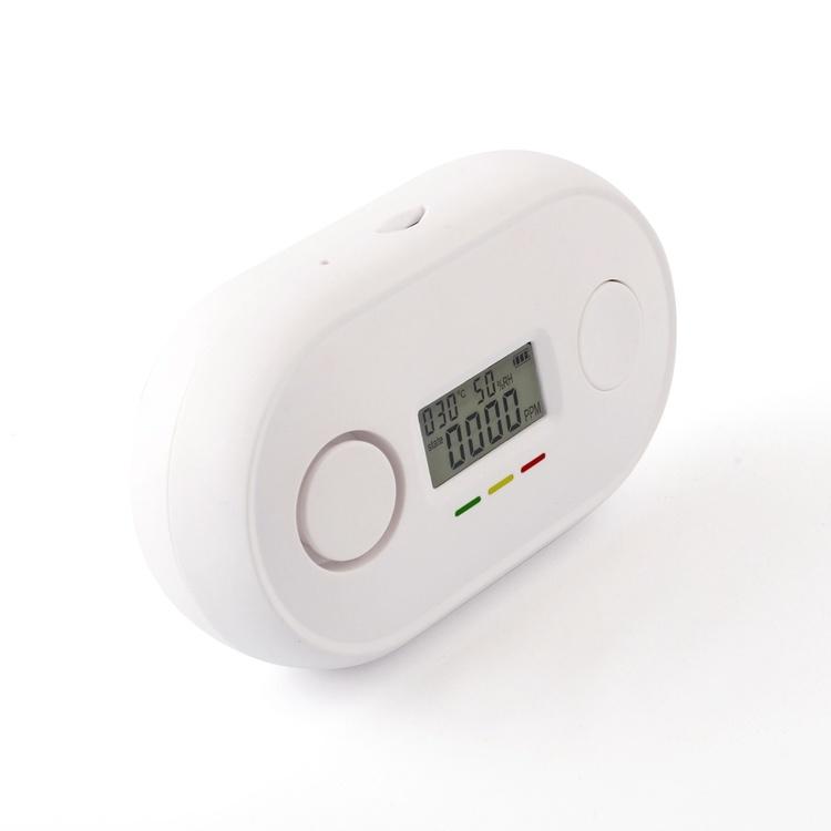 Wi-Fi Carbon Monoxide Detector LCD Display Voice Alarm Temperature Humidity Detection