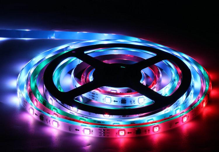 Smart RGB Strip Light Addressable LED Strip 12V Music Sync