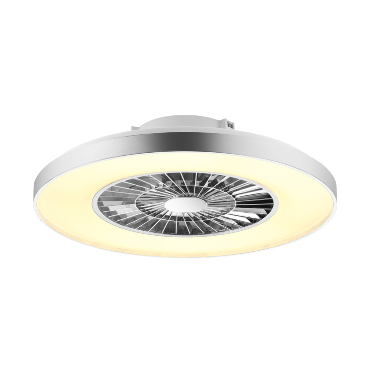 Ceiling Fan Light With Chrome Plated Frame