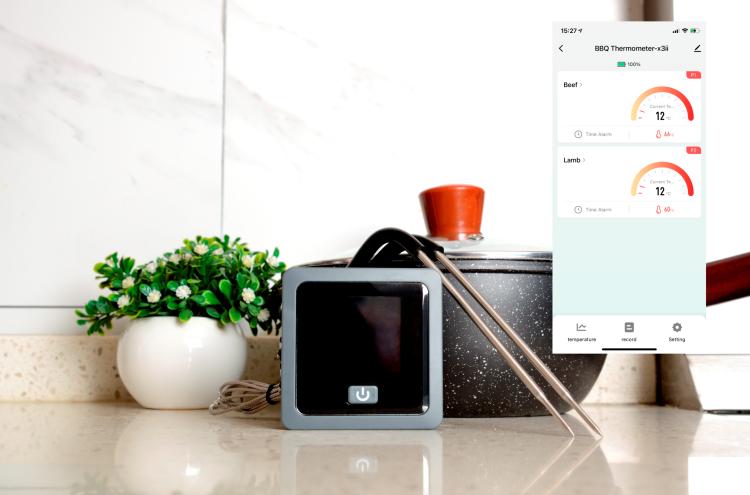 Bluetooth BBQ Kitchen Thermometer