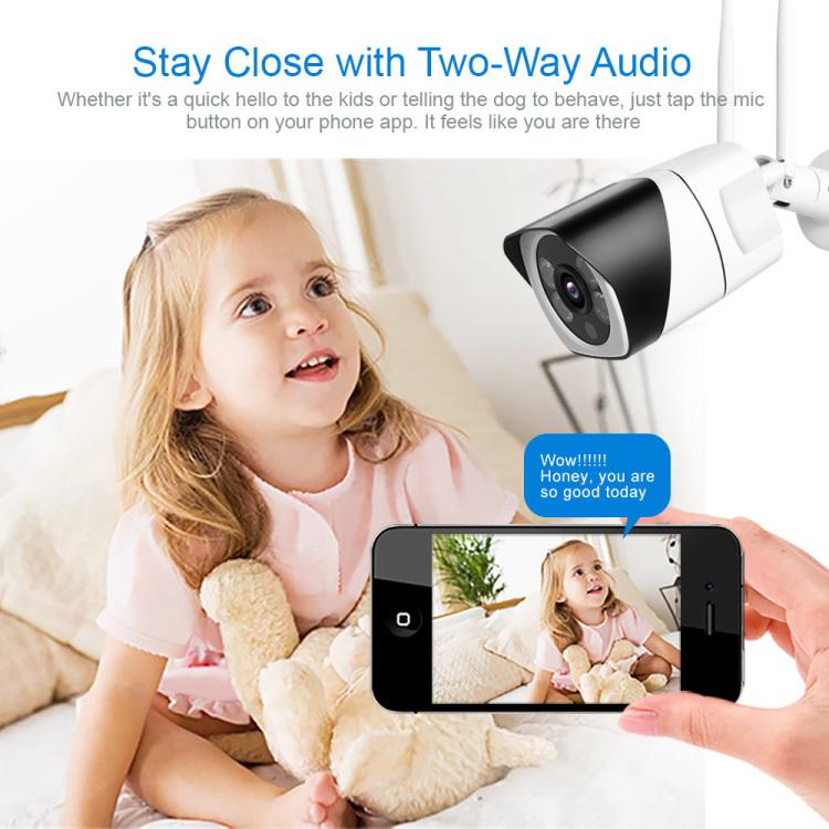 Waterproof IP66 Outdoor Security Camera With Night Version