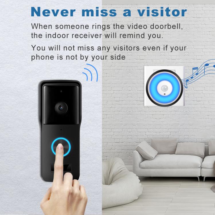 Smart Doorbell with PIR Night Light Door Chime