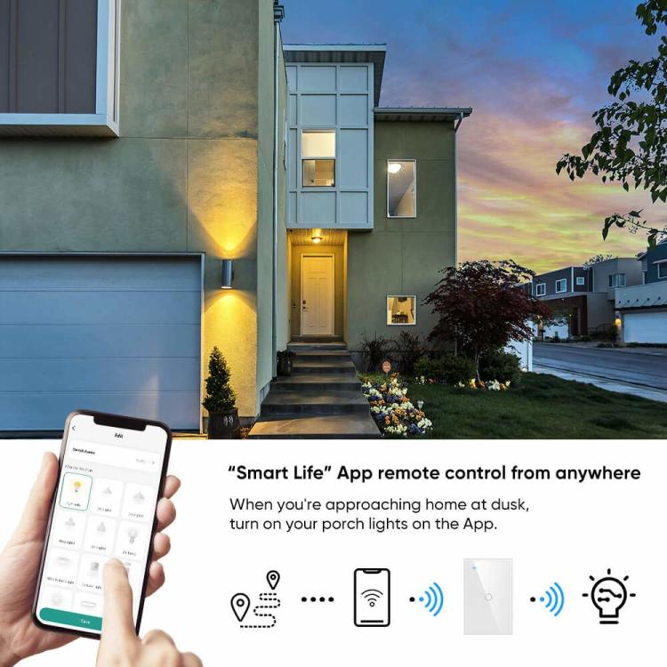US Wi-Fi Glass Touch Switch 1 Gang