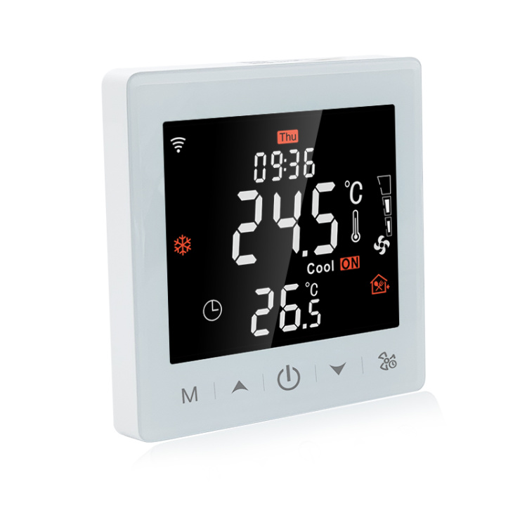 R9W.963 Original Manufacturer LCD Programmable Smart WiFi/485 Modbus Fan Coil Thermostat Working with Alexa and Google