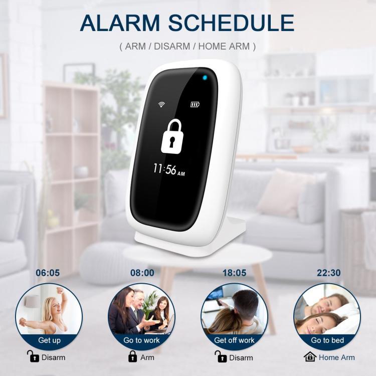 Koochuwah Tuya Wifi LCD Home Security Alarm System