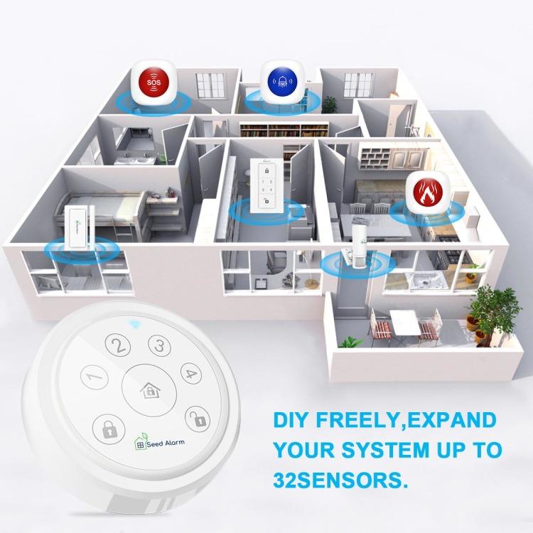 Seed Alarm Tuya Wi-Fi Home Full Security System