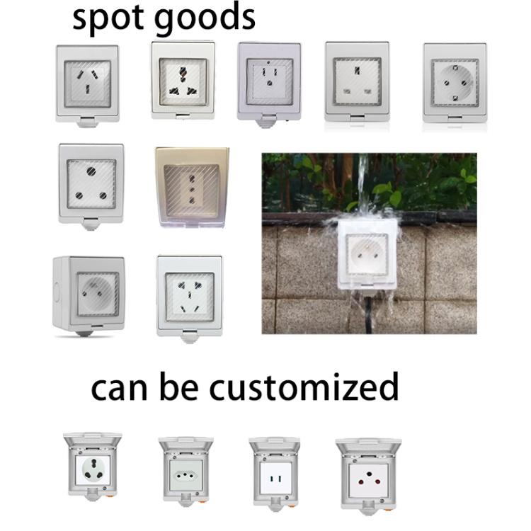 Smart outdoor waterproof IP55 socket