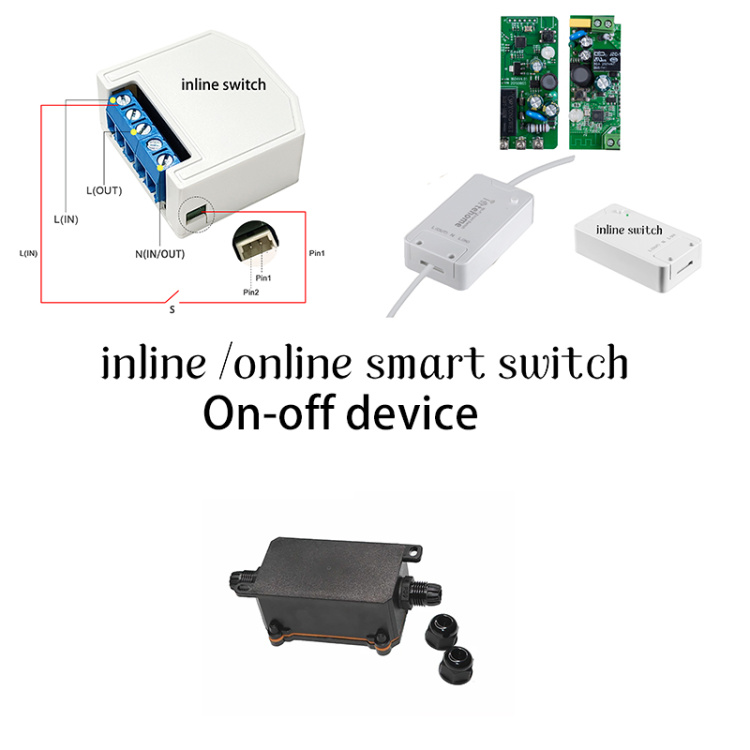 smart remote control mini inline online switch On-off device