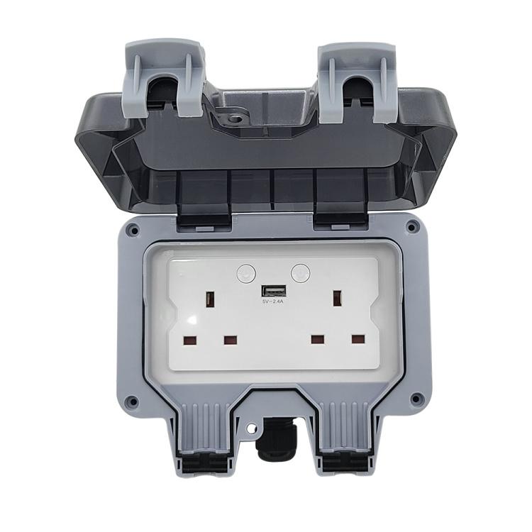 UK British IP66 Waterproof Smart Sockets Wi-Fi App Remote Control Socket