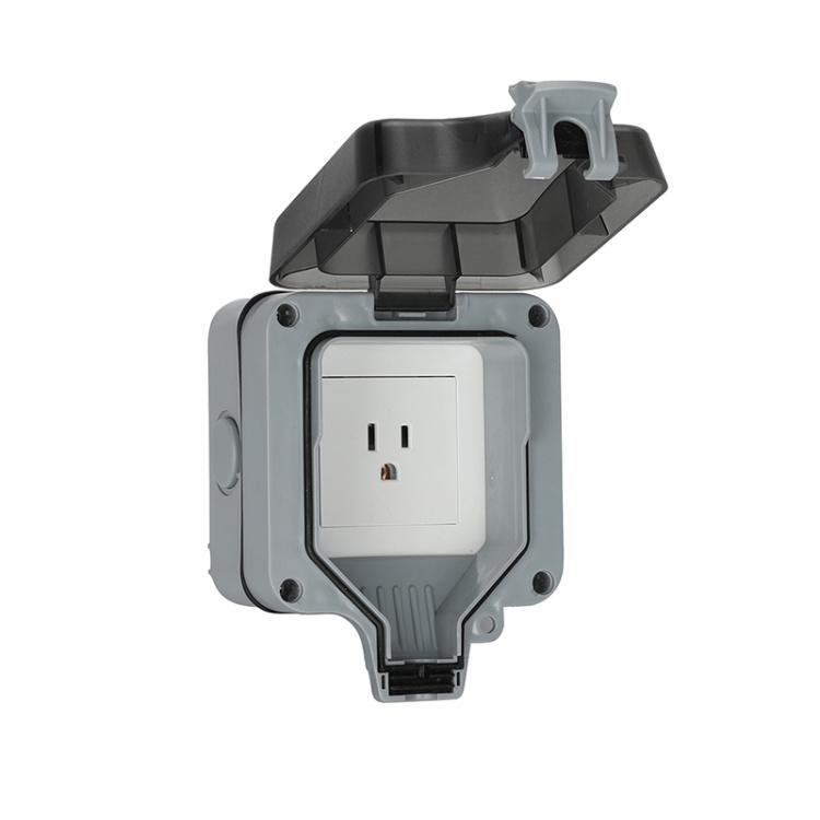 America APP Remote Control Plug Socket Amazon Alexa Google Home Voice Control IP66 Waterproof Smart Switch Single Outlet