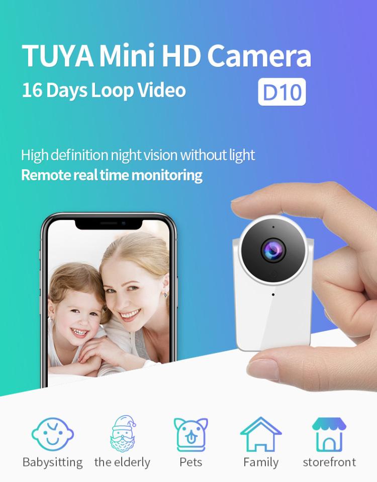 Tuya Smart Full HD Mini Wireless Camera With IR-Cut