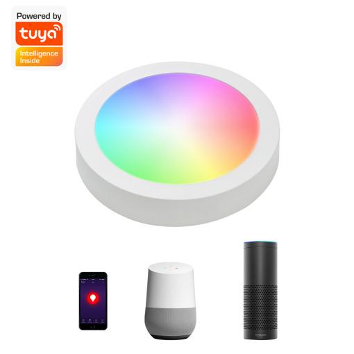 "12W 6"" Smart LED Panel Light recessed Surface Mounted wifi bluetooth zigbee"