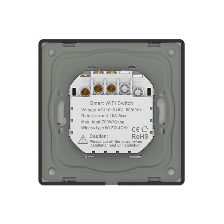 GDKES Wi-Fi+BLE 16A Fingerprint Proof 2.5D Glass Touch  Switch 3 Gang