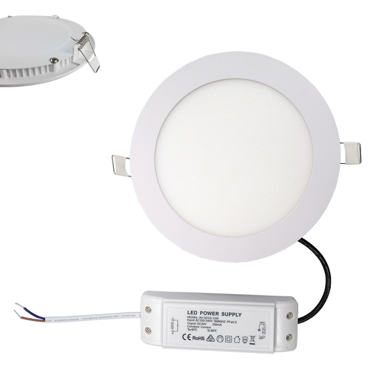 """9W 4""""  Smart LED Panel Light recessed ceiling"""
