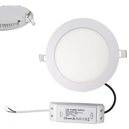 "18W 8"" Smart LED Panel Light Recessed Ceiling Light"