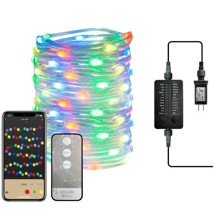 Voice Controlled 100L Super Bright Micro RGB Smart Light