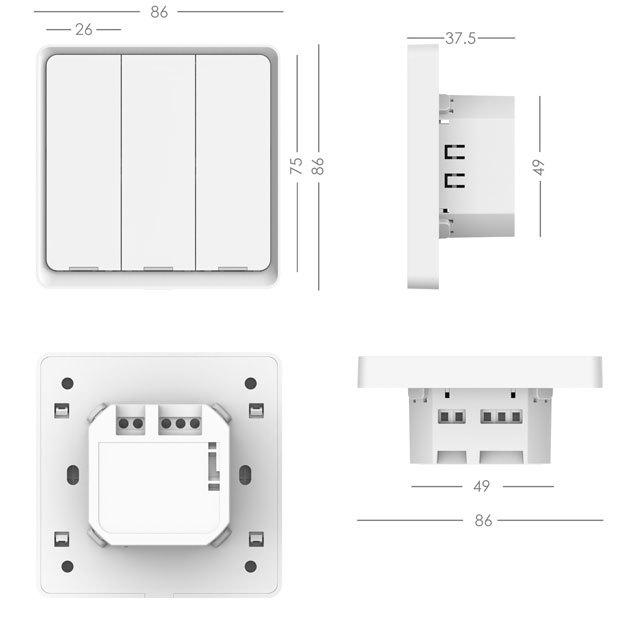 EU Smart Lighting Switch 3 Gang