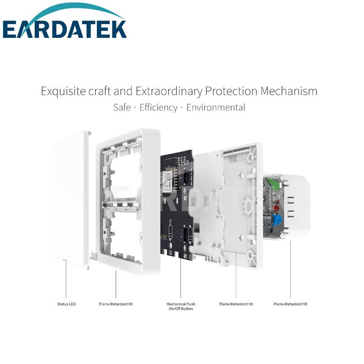 EU standard smart switch Zigbee No neutral line
