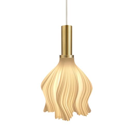 Smart 3D Printing Warm White Pendant Lamp