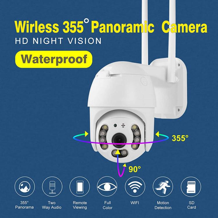 Camera HD 1080P Outdoor Wireless Wi-Fi IP Camera Two Way Audio Auto Tracking Night Vision IP65 Waterproof