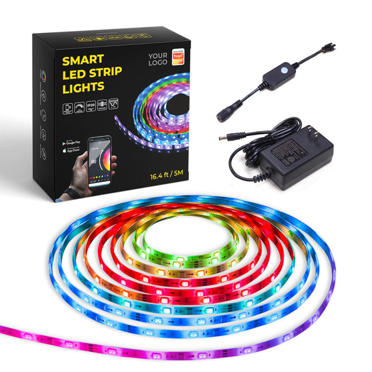 LS Smart LED Strip Lights Kit, RGB 5m 150LEDs, IP65 Waterproof Glue Dropped Strip, App Controlled
