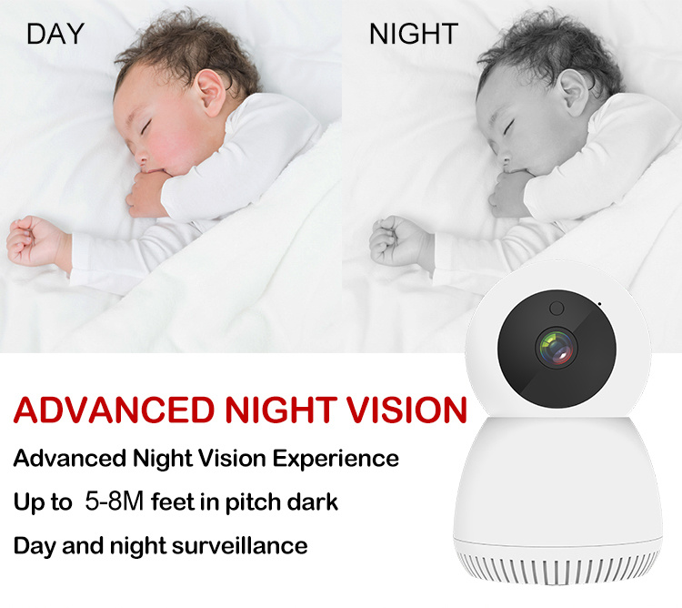Whalecam Smart Indoor Pan/Tilt Home Camera 1080P HD Security Camera Wireless 2.4GHz with Night Vision