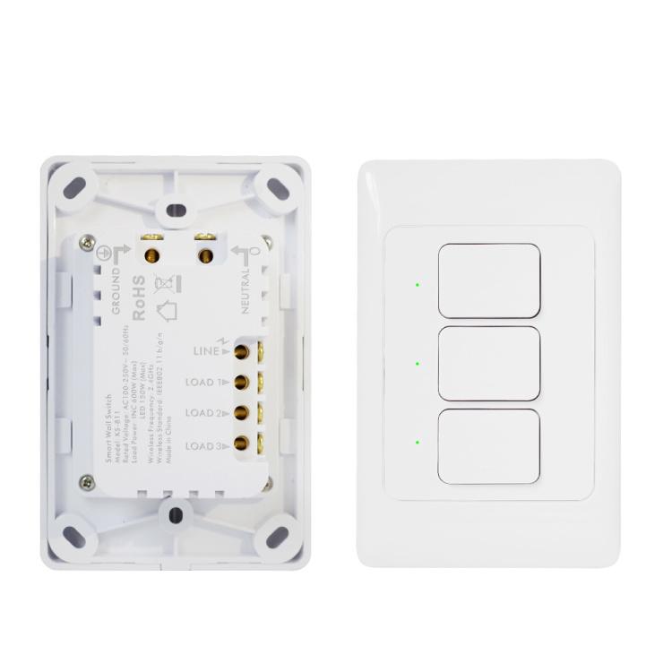 KS-811 ZigBee Smart Wall Switch 1 2 3 Gang