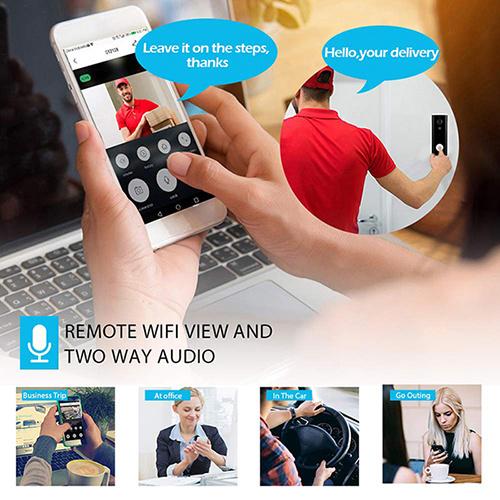 Mini 2.0MP Tuya APP Doorbell Camera WIFI Security CCTV Camera Wireless 1080P Smart Home Video Intercom Doorbell IR Night