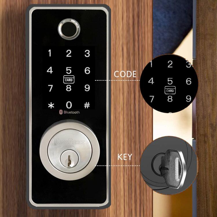 Kingforce Touchpad Voice Guide Fingerprint Smart Electronic Lock