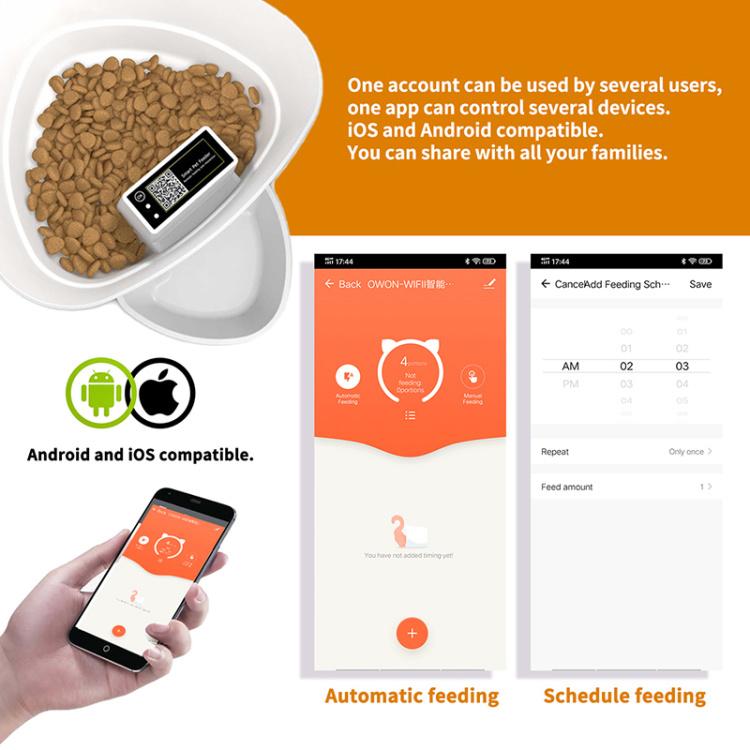 4L wifi pet feeder