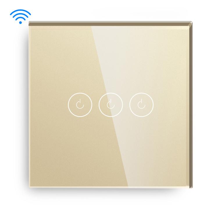 Smart 2 Gang 1000W White/Gold/Black/Grey Wifi Light Switch