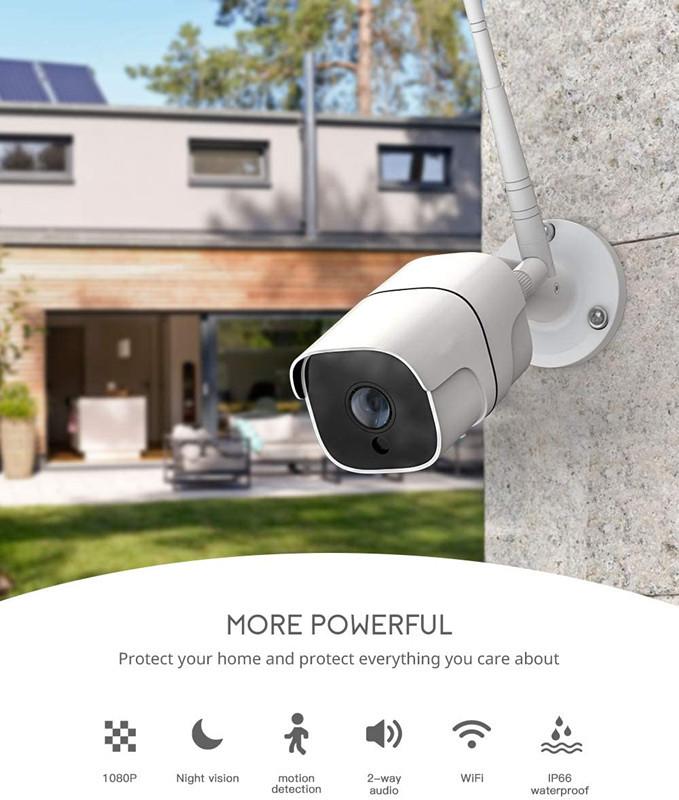 Smart Life Cloud Wireless Wi-Fi IP Outdoor Camera 2MP Intelligent 1080P IP66 Waterproof RJ45