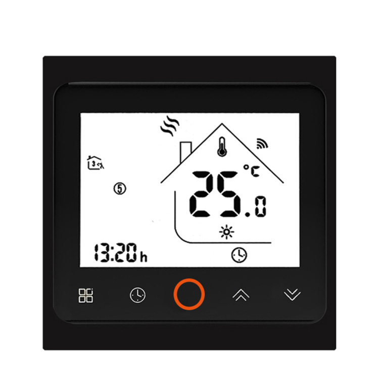 LCD touch screen floor heating thermostat with Google Home water heating WiFi thermostat